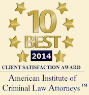 10 best Attorneys in Washington for Client Satisfaction in Criminal Law by the American Institute of Criminal Law Lawyers