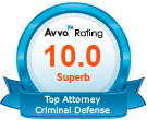 Avvo Top Attorney Criminal Defense
